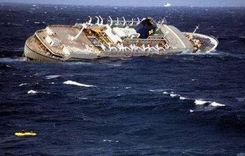 Sinking Cruise Ship Oceanos - Sinking cruise ship oceanos