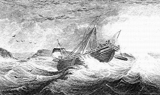 'Click' on the image for an excellent nautical overview  of the voyage and shipwreck of the Apostle Paul.