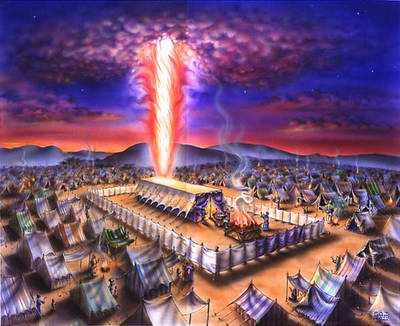An early view of the covenant people of Israel encamped together in unity as