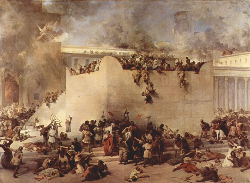The destruction of the Jewish Temple in 70 A.D.